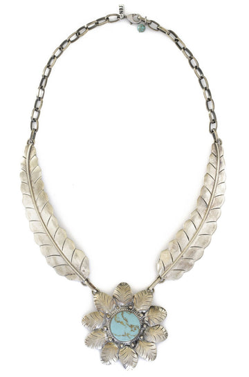 Natalie B Jewelry Two Raven El Sol Necklace in Turquoise|ISHINE365 - 1