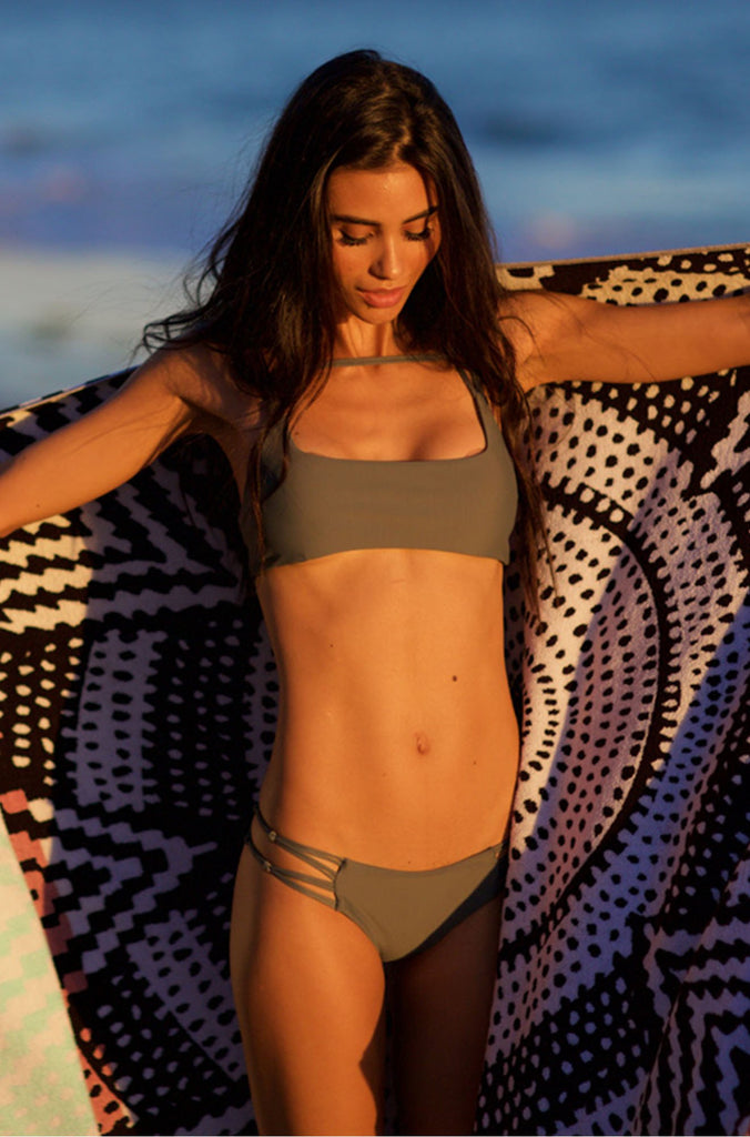 MIKOH SWIMWEAR 2016 Molokai Bikini Bottom in Army|ISHINE365 - 2
