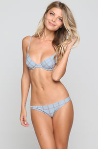 Manhattan Stitch Bikini Top in Sky/Beach Babe