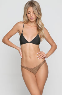 Pipeline Mesh Bikini Bottom in Beach Babe/Shadow