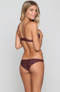 Manhattan Stitch Bikini Top in Merlot/Shadow