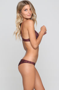 Waikoloa Stitch Bikini Bottom in Merlot/Shadow
