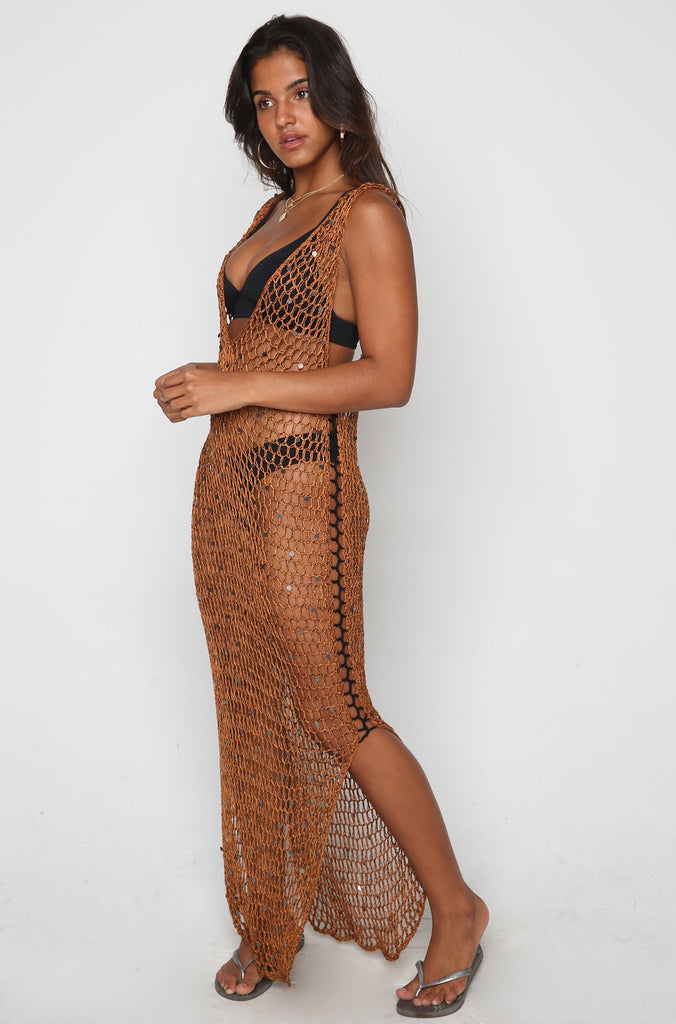Reef Maxi Dress in Copper