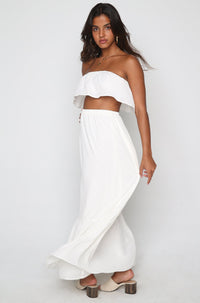 Lola Skirt Set in White