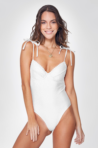Alma One Piece in White
