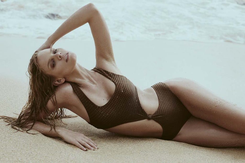 Colombia Mesh One Piece in Shadow/Clay