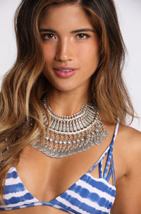 Natalie B Jewelry Fit For A Queen Statement Collar in Silver|ISHINE365 - 1