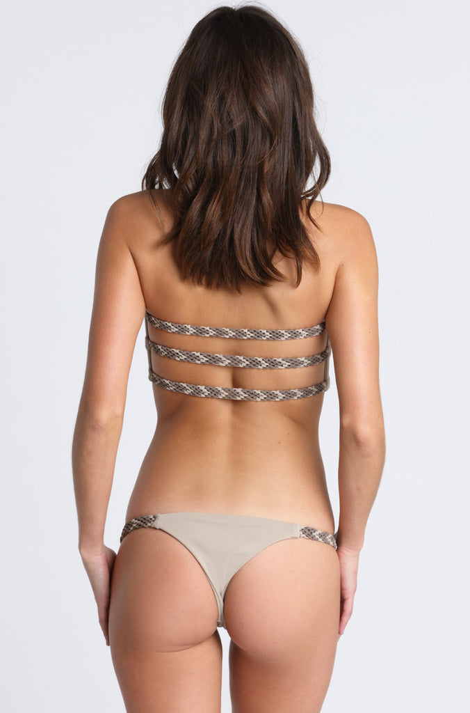 Siempre Golden Tres Amigos Bikini Bottom in Sand|ISHINE365 - 1