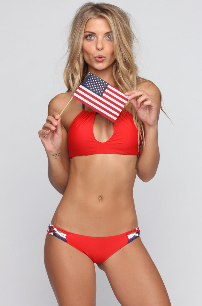 July Bottom in Red/White/Blue