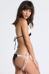 MIKOH SWIMWEAR Kihei Bikini Bottom in Bone/Night|ISHINE365 - 1