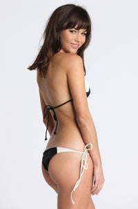 MIKOH SWIMWEAR Kihei Bikini Bottom in Bone/Night|ISHINE365 - 2