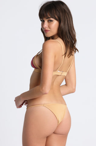 Taste the Rainbow Bikini Bottom in Nude