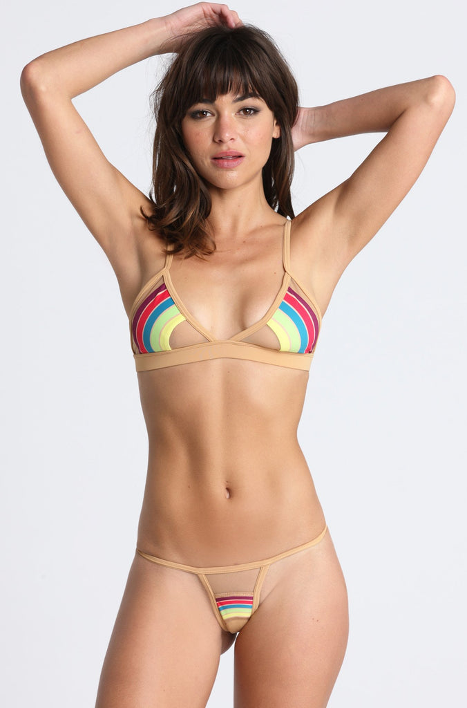 Pacific and Driftwood Taste the Rainbow Bikini Bottom in Nude|ISHINE365 - 2