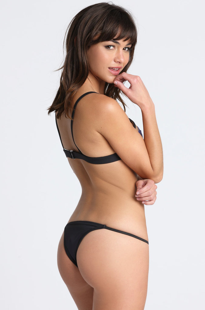Pacific and Driftwood Taste the Rainbow Bikini Bottom in Black|ISHINE365 - 1