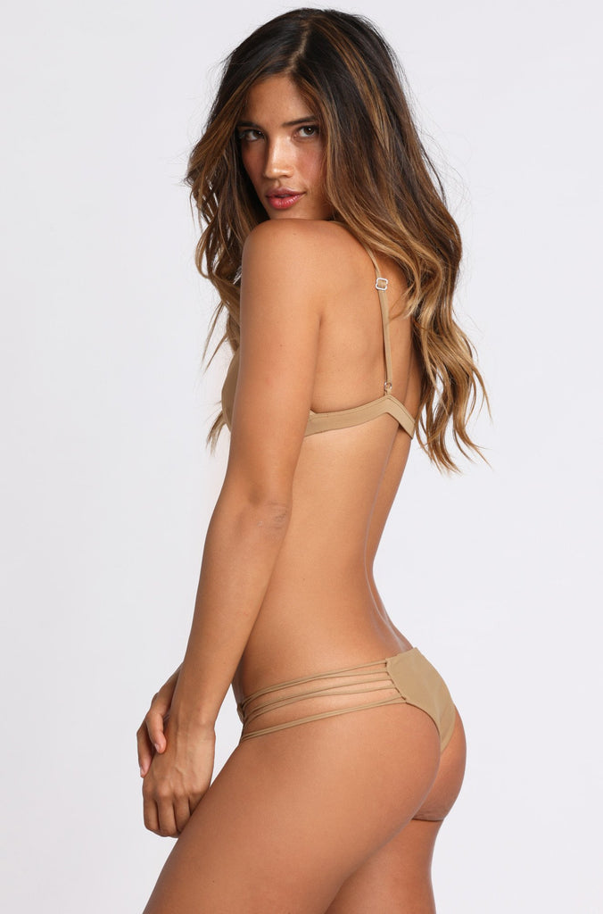 MIKOH SWIMWEAR Kapalua Bikini Bottom in Kava|ISHINE365 - 3