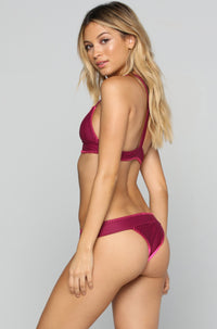 House of Au+ORA Fame Bikini Bottom in Syrah|ISHINE365 - 3