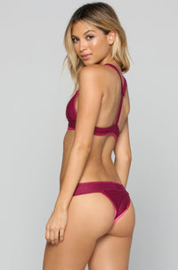 House of Au+ORA Fame Bikini Bottom in Syrah|ISHINE365 - 1