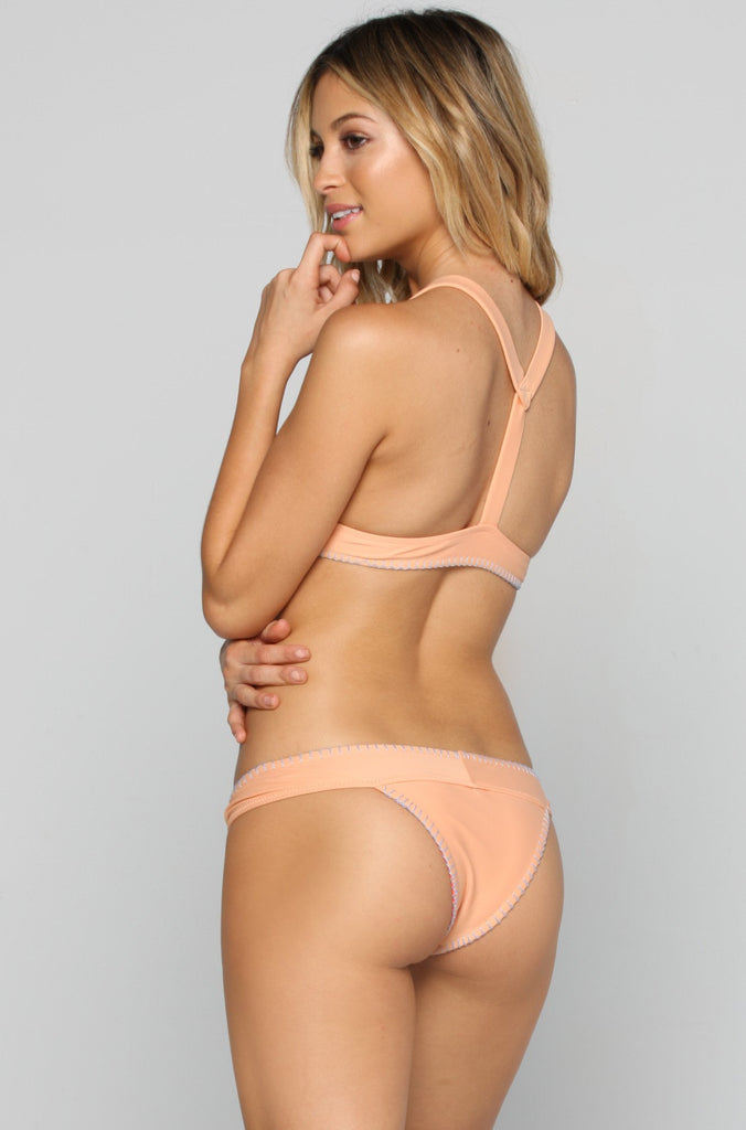 Fame Bikini Bottom in Melon