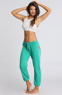 Spiritual Gangster Peace and Love Sweatpant in Seaglass|ISHINE365 - 2