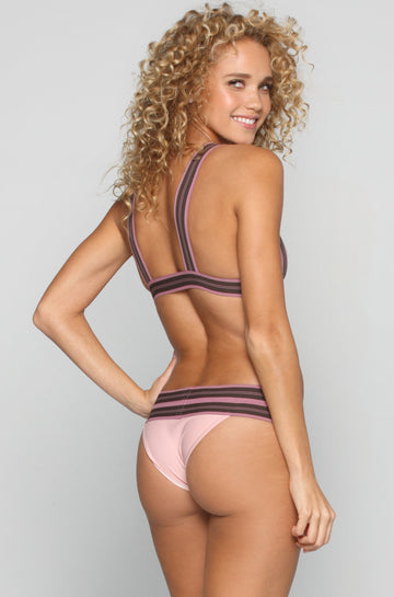 ACACIA X OLYMPIA Hamptons Bikini Bottom in Sunrise/Orchid|ISHINE365 - 1