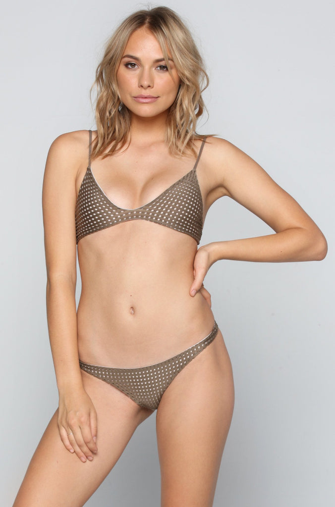 Pipeline Mesh Bikini Bottom in Opihi/Foam