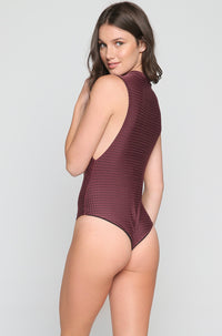 Cloud 9 Mesh One Piece in Merlot/Shadow