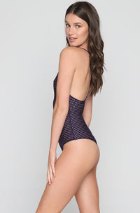 Sunset Mesh One Piece in Blackberry/Clay