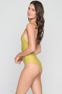 Sunset Mesh One Piece in Pineapple/Clay