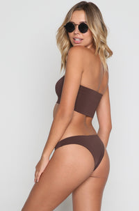 Cindy Bikini Bottom in Chocolate