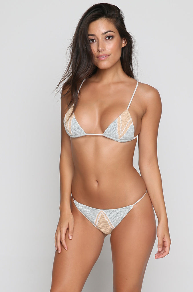 Mediterranean Bikini Top in Sea