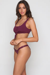Rib Tide Bralette in Plum
