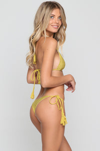 Polihale Mesh Bikini Bottom in Pineapple/Clay