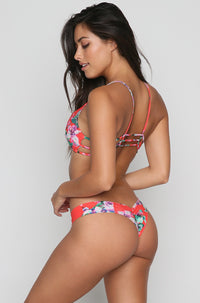 Uno Bikini Bottom in Red Floral