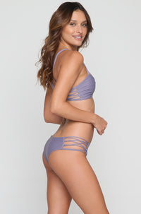 Cove Bikini Bottom in Pewter