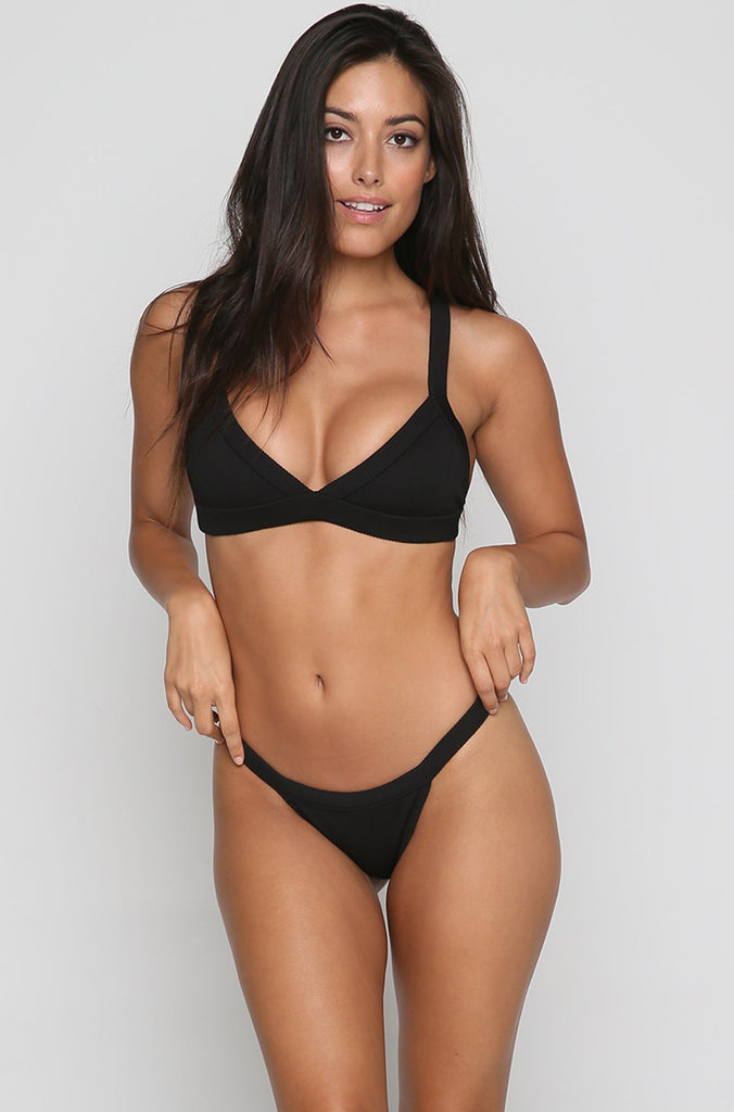 Red Eye Bikini Top in Black
