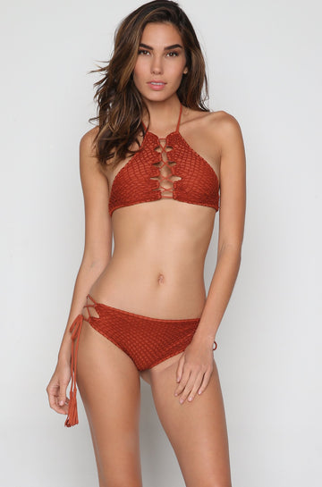 Lei Crochet Top in Mai Tai
