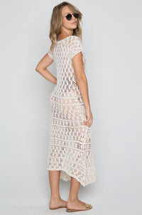 Laura Crochet Maxi Dress in Natural