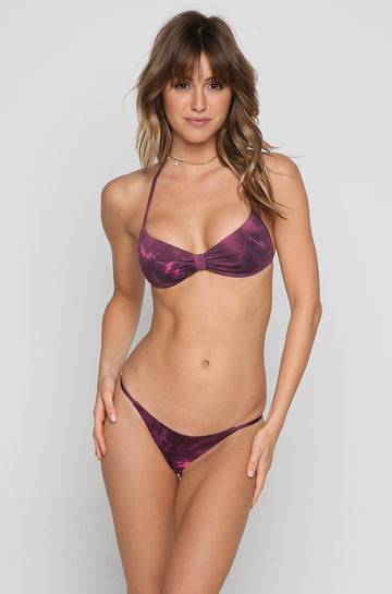 Wild Hearts Bandeau Bikini Top in Bouquet Tie Dye