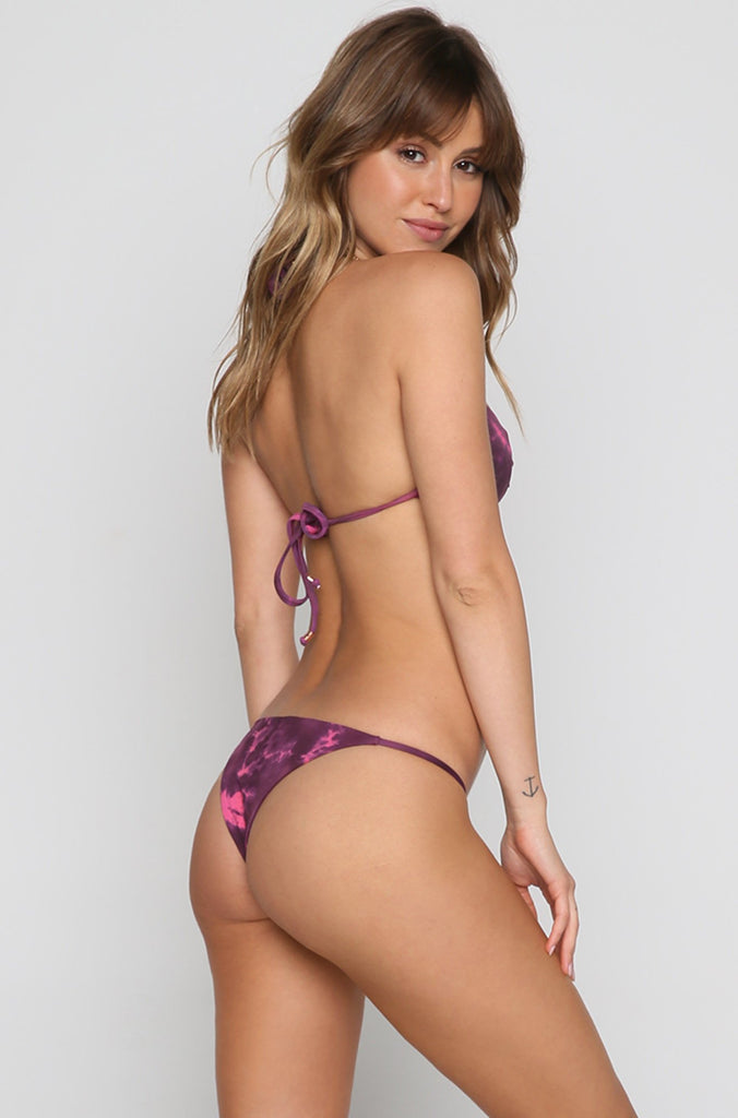 Paradise Skimpy Bikini Bottom in Bouquet Tie Dye