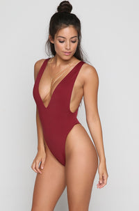 Claudia One Piece in Wine