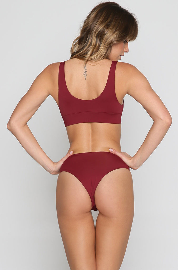 Jagger Bikini Top in Wine
