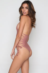 Florence Crochet One Piece in Lipstick