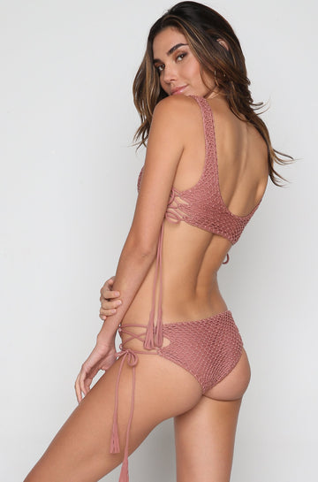 Murray Crochet Bottom in Lipstick