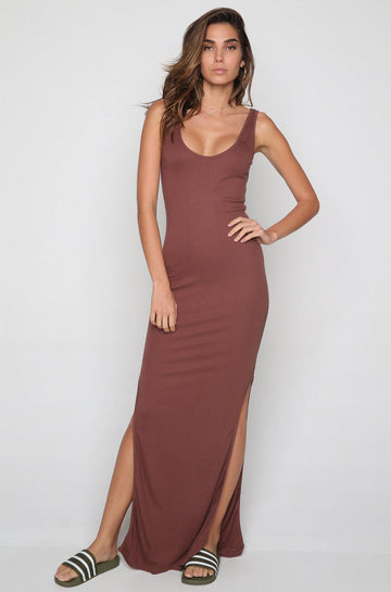 Al Dente Tank Maxi Dress in Flush