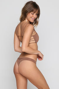 Sunbeam Scoop Bikini Top in Cacao