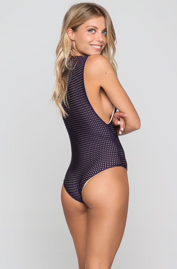 Cloud 9 Mesh One Piece in Blackberry/Clay