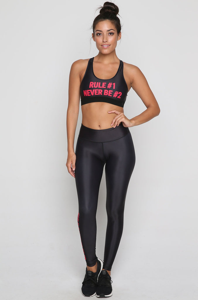 Rule #1 Sports Bra in Black