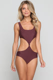 Colombia Mesh One Piece in Merlot/Shadow