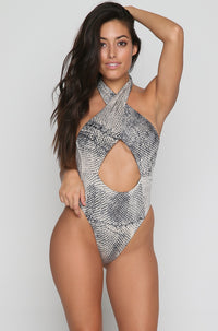 Halter One Piece in Viper Tie Dye