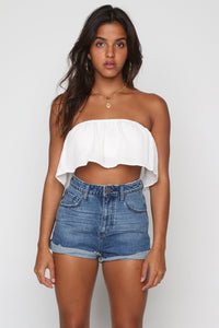 Bandits High Waist Shorts in Pacifica